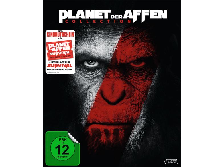 Planet der Affen 2er Box-Set: Planet der Affen: Prevolution & Revolution (Blu-ray) + Kinogutschein für Planet der Affen - Survival für 14,90€ (Media Markt)