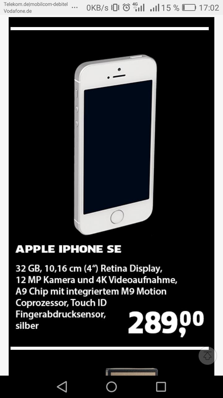 Apple iPhone SE 32GB Black.de