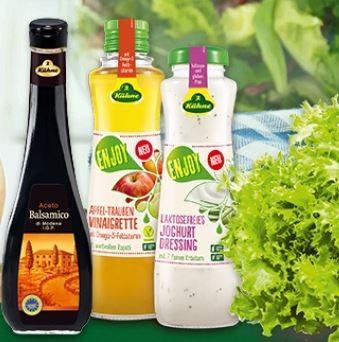 Salat gratis beim Kauf von Kühne ENJOY Dressing, Salatessig, Balsamico oder Balsamissimo