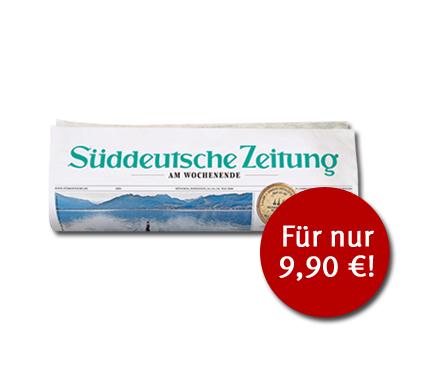 8 Wochenenden (Fr + Sa) Printausgabe Süddeutsche (kann per mail gekündigt werden)