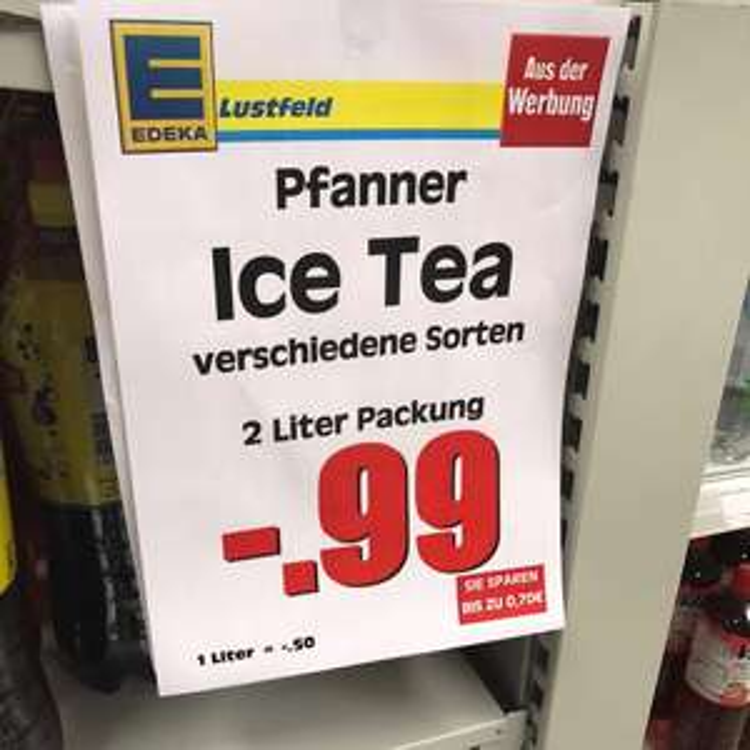 [LOKAL] Edeka Neustadt am Rübenberge ICE Tea Pfanner