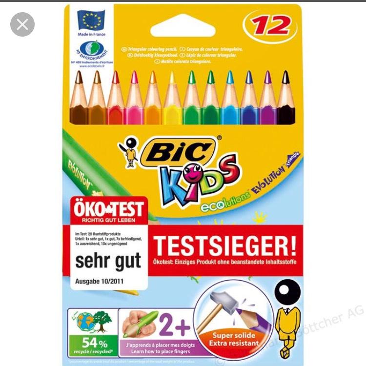 36 BIC-Kids-Buntstifte für 3€ [Zimmermann]
