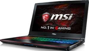 "MSI GE62VR-6RF16H11 / 15.6"" / GTX1060 (6GB) / i7-6700HQ / 16GB DDR4 / 128GB SSD / 1000GB HDD / WIN10 für 1.163,65 € [Notebook.de]"