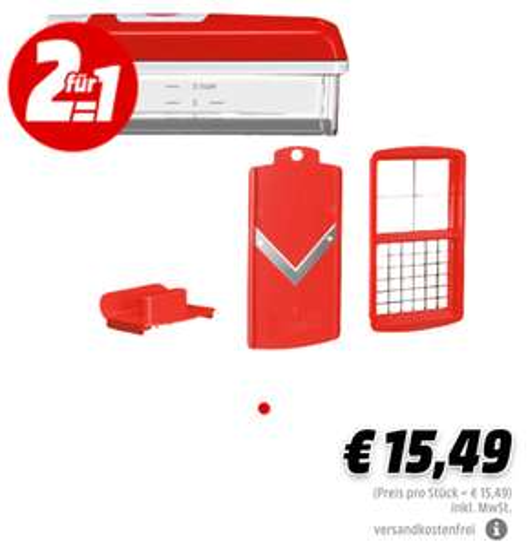 2x GENIUS Nicer Dicer Plus Kompakt 5-tlg (7,75 pro Stück)