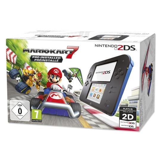 Nintendo 2DS inklusive Mario Kart 7 vorinstalliert für 74,00 Euro [real]