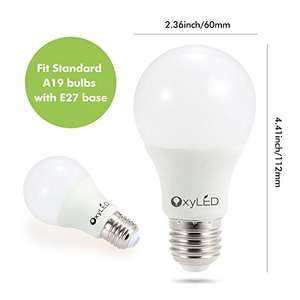 [amazon.de Prime] OxyLED 6er Pack 9W E27 LED Glühlampen 3000K 810LM warmweiß