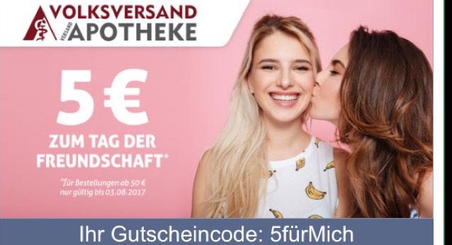 5€ Rabatt bei der Volksversandapotheke (50€ MBW)
