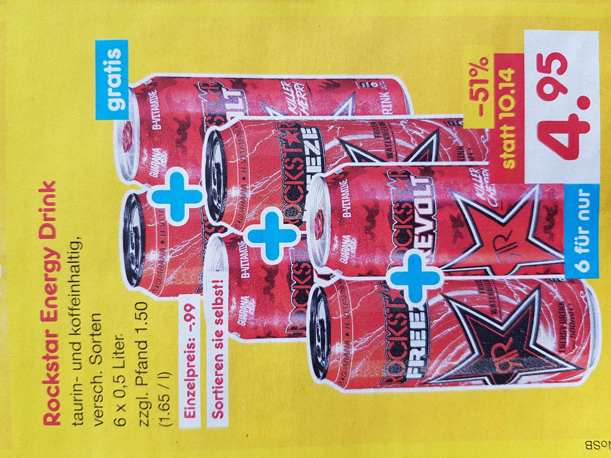 [Netto Marken-Discound evtl. Raum HH] 6 Dosen Rockstar Energy-Drink für 4,95 € / 0,83€ pro Dose