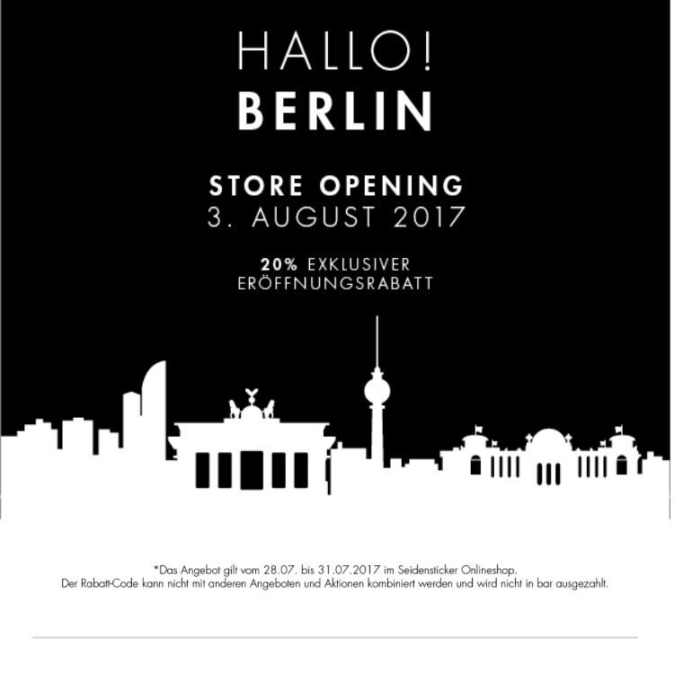 Seidensticker Neueröffnung am 3. Aug in Berlin
