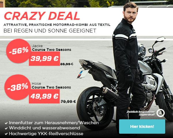 Motorradjacken um 56% reduziert (zeitlich begrenzt)