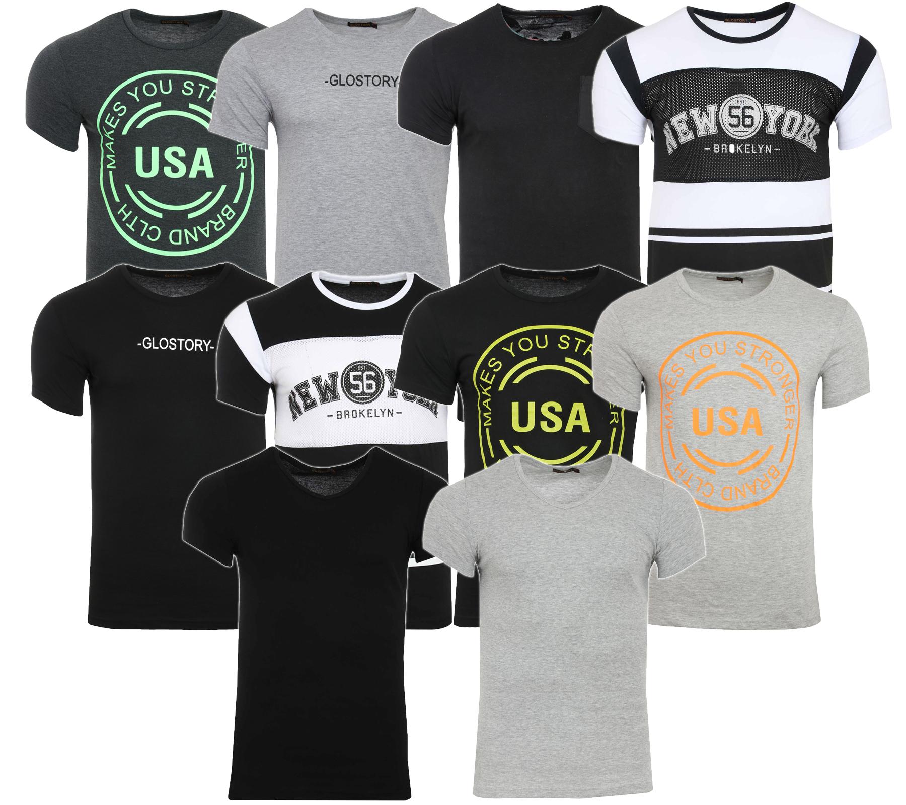 GLO-STORY Herren T-Shirt Freizeit-Shirt für 0,99€ [Outlet46]