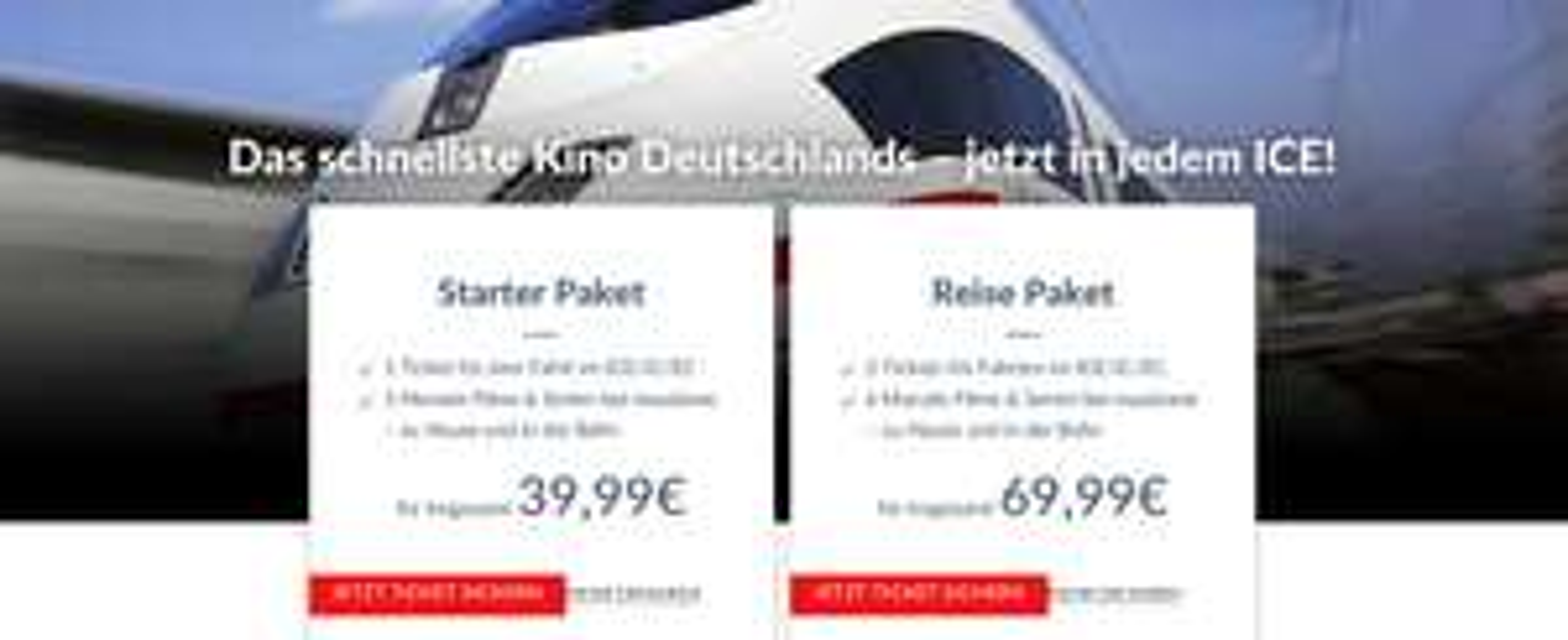 maxdome in Kooperation mit DB - Starter Paket für 39,99 € oder Reise Paket 69,99 - nur für Neukunden