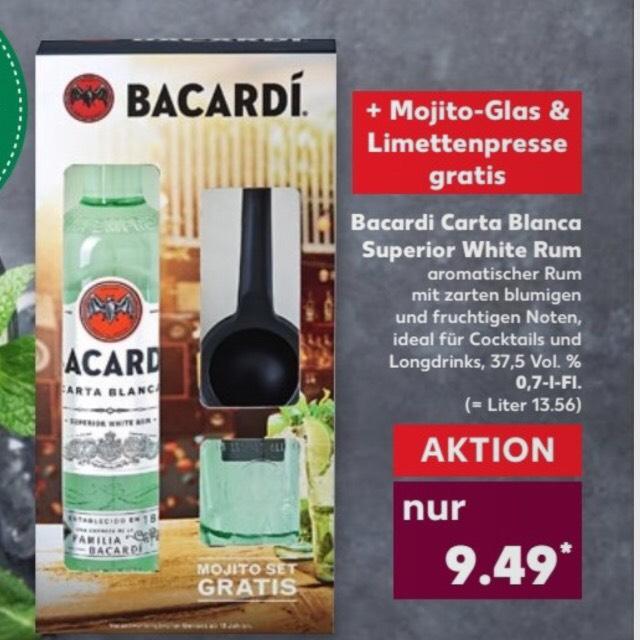 [Kaufland] Bacardi 0,7l inklusive Glas und Limettenpresse ab dem 3.8.