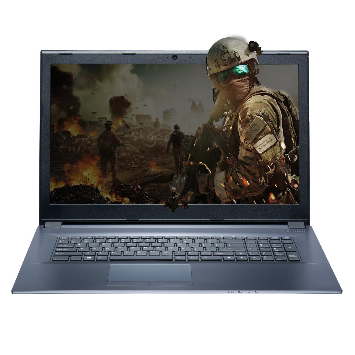 """Einstiegs-Clevo Notebook/Laptop mit 17"""" Full-HD Display, i7-7700HQ, GTX1060, SSD und HDD, 8GB RAM"""