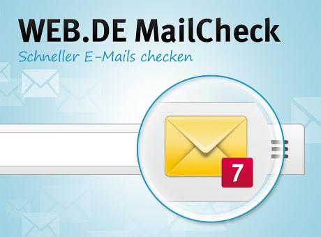 web.de MailCheck installieren und 333 webcent kassieren 3,33€