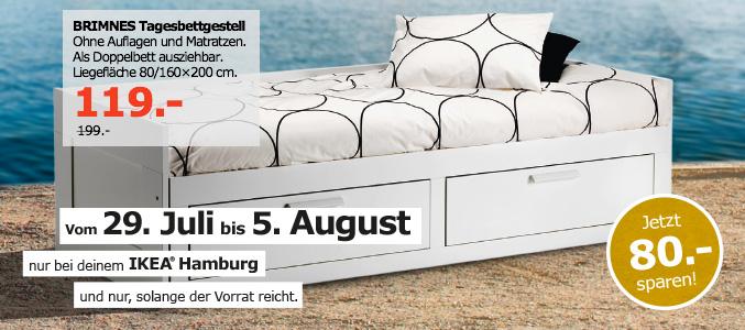 [Lokal Hamburg][IKEA] Brimnes Tagesbettgestell ausziehbar auf 160x200 mit Schubladen statt 199€