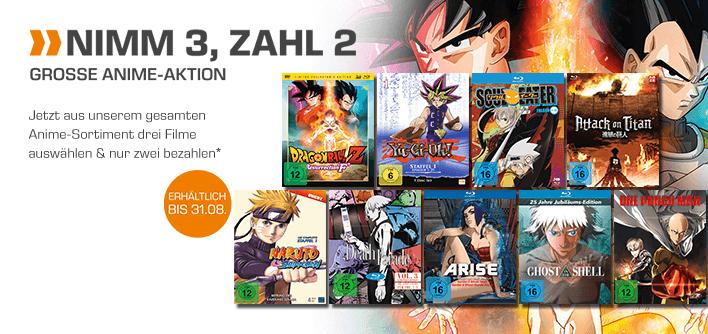 [Saturn] 3 für 2 DVD/Blu-ray Anime Aktion