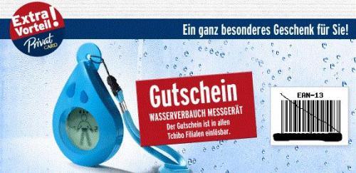 """(Offline) Tchibo ab 23.7.: Gratis """"Wasserverbrauch-Messgerät"""" (für PrivatCard-Kunden)"""