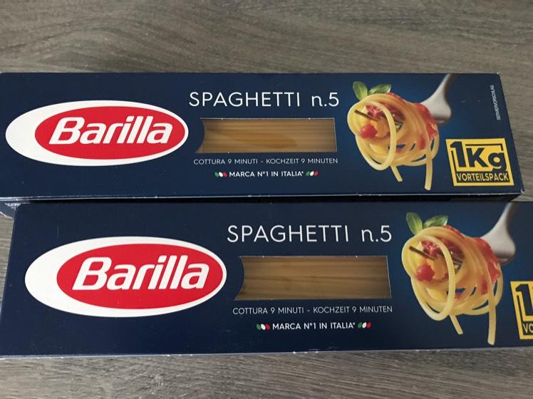 1 kg Barilla-Nudeln 1,40 € (real, evtl. lokal)