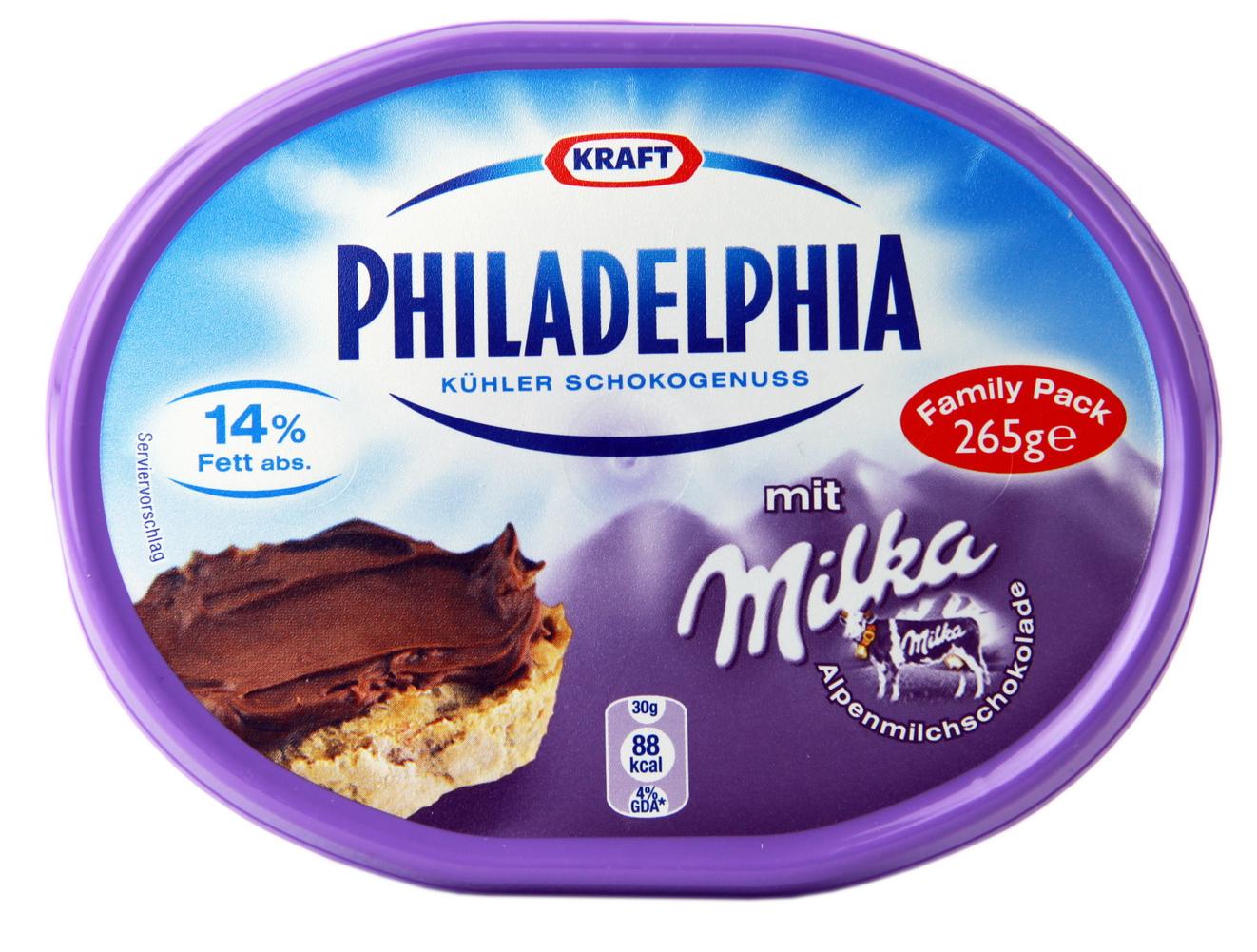 0,50€ Sofort-Rabatt-Coupon für Philadelphia Milka zum Ausdrucken in PDF bis 16.09.2017