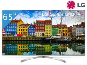 LG 65SJ810V TV (65'' UHD Edge-lit Dimming Dolby Vision HDR10 HLG, 2800 PMI [100Hz nativ], 10 Bit, Triple Tuner, 4x HDMI, 3x USB, LAN + Wlan mit Smart TV, CI+, VESA, EEK A+) für 1608,90€ [Ibood]