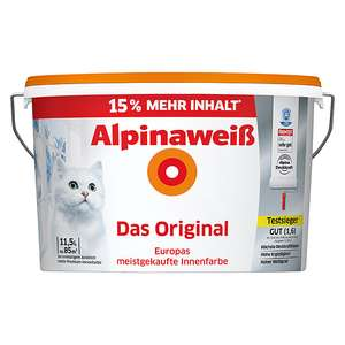 [Bauhaus] Alpina Das Original Alpinaweiß Farbe mit 19% Cashback-Aktion