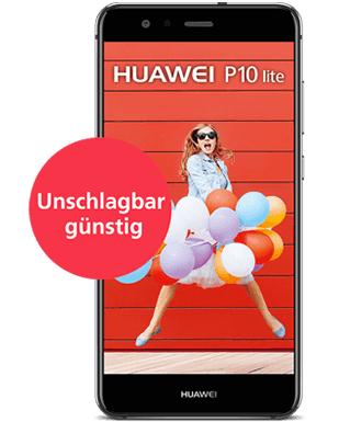 o2 - Huawei P 10 lite für 249€ + 40€ Cashback in Kombi mit o2 Banking (gültig für alle Handys) = 209€