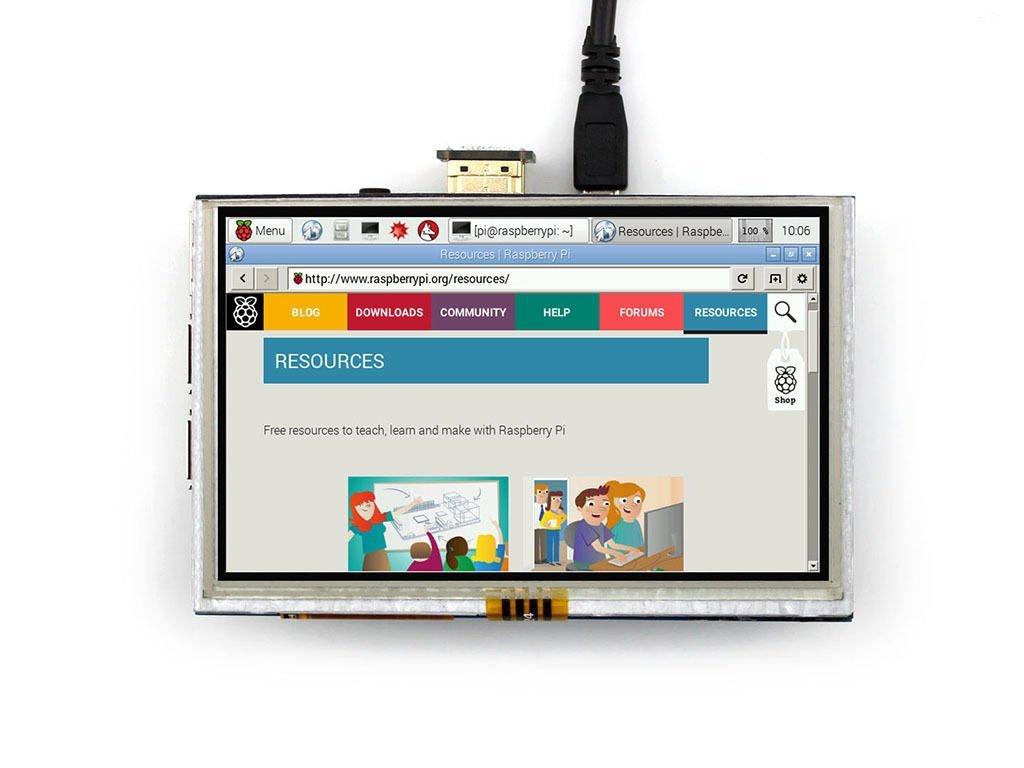 """[Versand durch Amazon] Raspberry Pi 5"""" LCD Touch-Modul 800x480 - bis zu je 6,95€"""