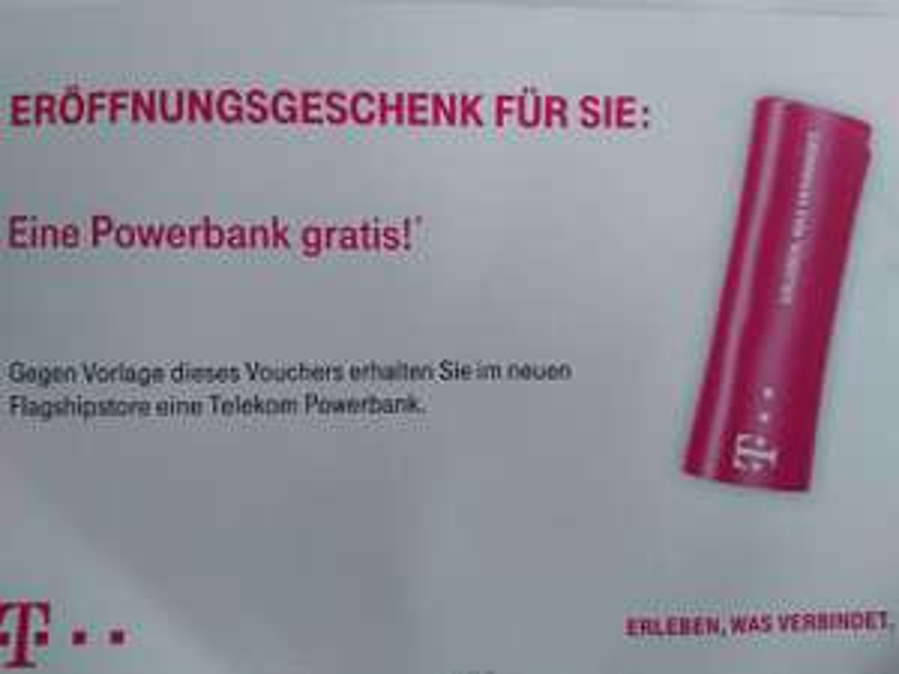 [München] Powerbank gratis im Telekom Shop