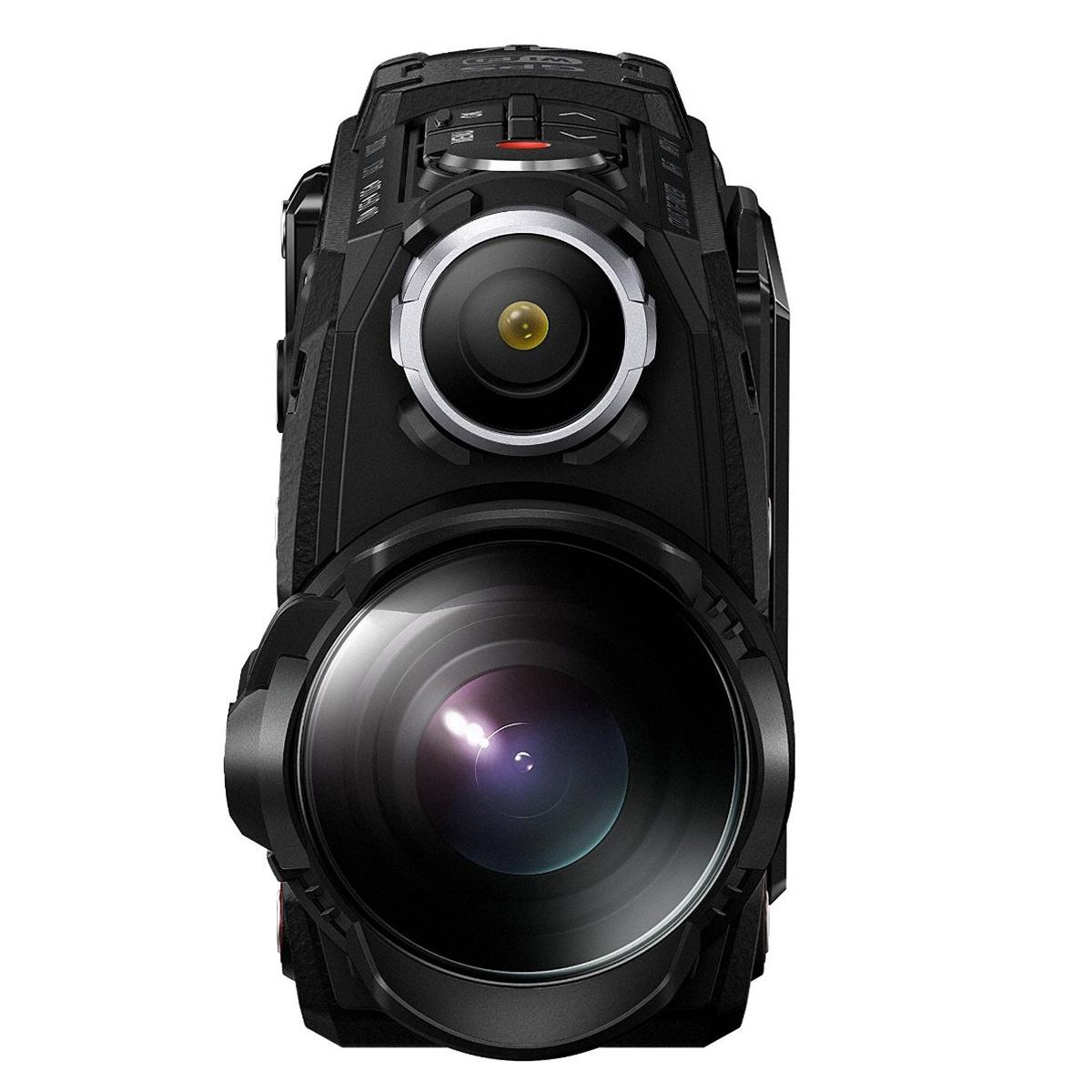 [foto-leistenschneider.de] Olympus TG-Tracker Actionkamera (stoßfest, wasserdicht bis 30m, belastbar bis 100kg , frostsicher bis -10 C°, staubgeschützt) mit GPS, Barometer, Temperatursensor, Kompass und Accelerometer - schwarz