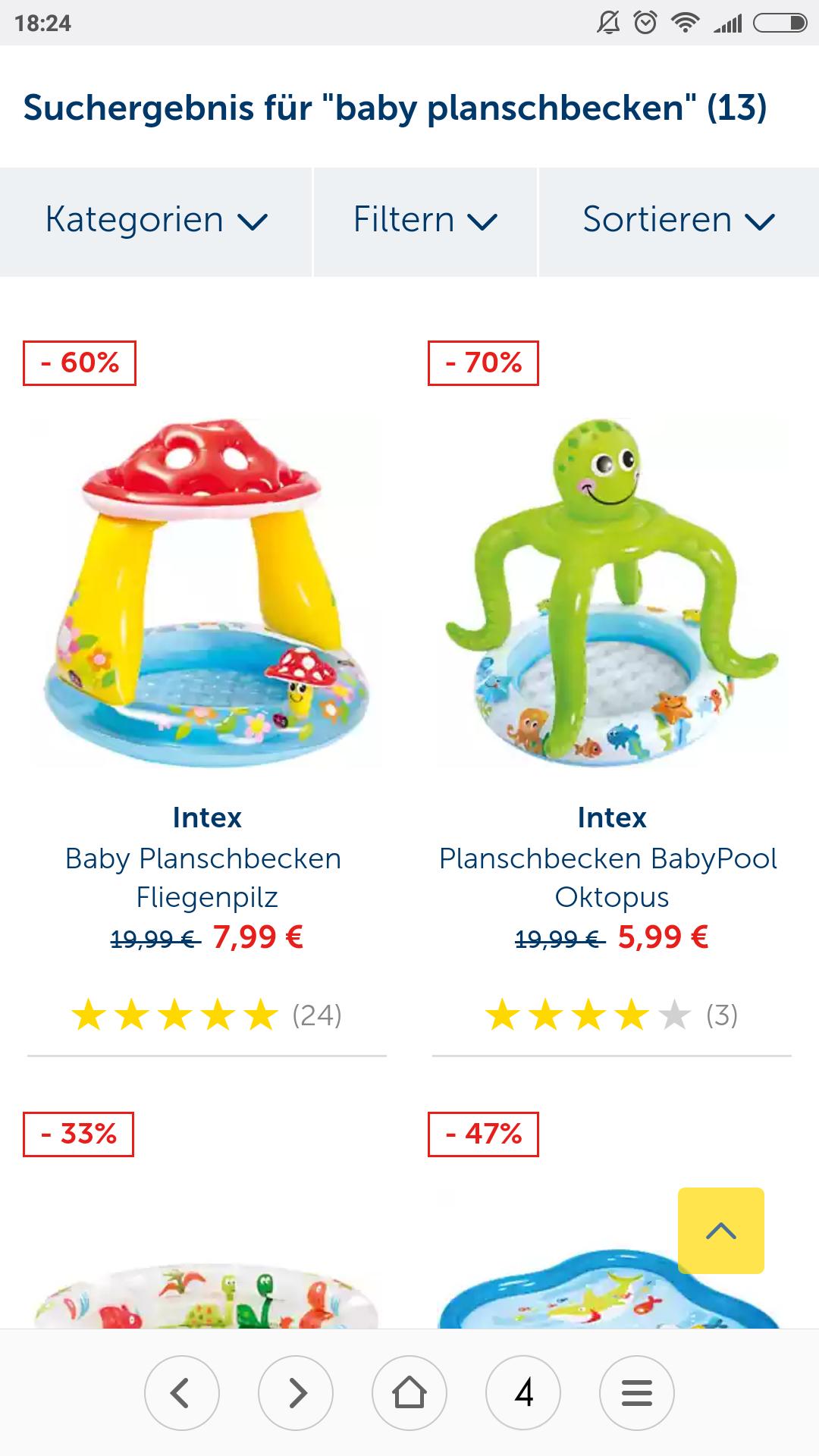 Baby Planschbecken im Sale [Mytoys]