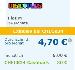 [Check24] discoPLUS o2 Allnet Flat + 1 GB LTE für 5,95€ mtl. | bei Rufnummermitnahme sogar nur 4,70€ mtl.
