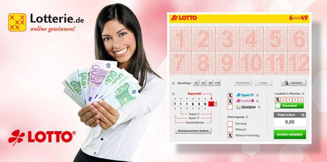 Kostenloser 7,50€ Neukunden-Gutschein bei Lotterie.de über dailydeal