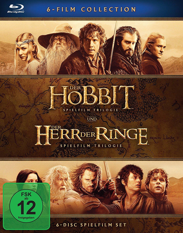 Mittelerde Collection: Herr der Ringe 1-3 + Der Hobbit 1-3 für 23,97€ [Bluray] [Amazon Prime]