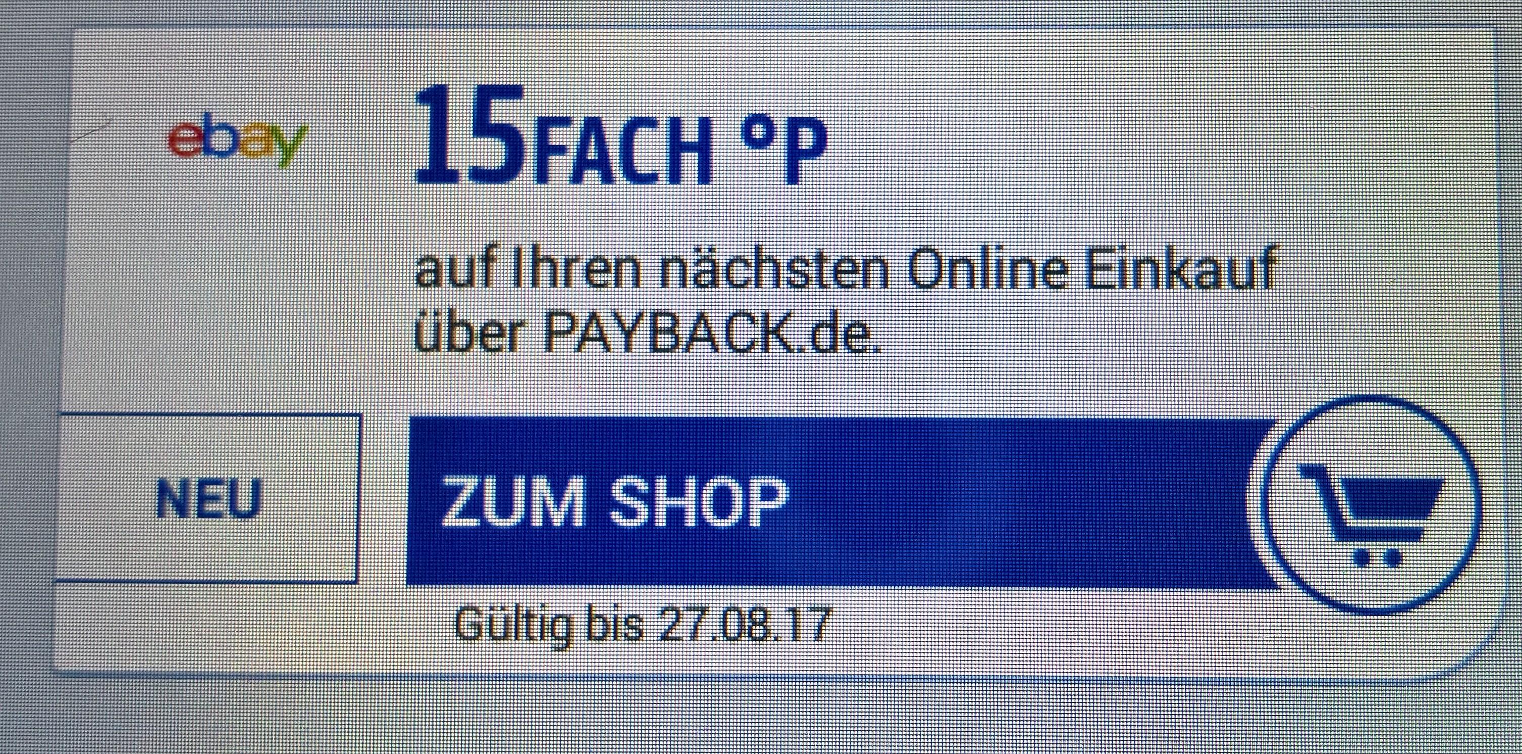 15 fach Punkte bei eBay über Payback (nicht alle Kunden)