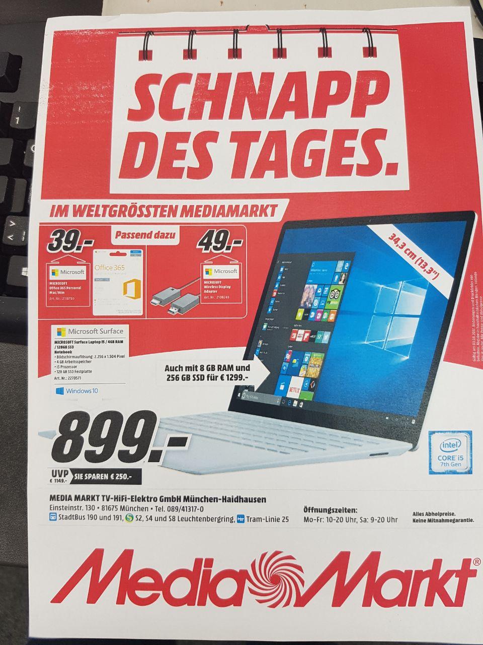 [Regional MM München Haidhausen] Surface Laptop ca. 200€ unter Idealo