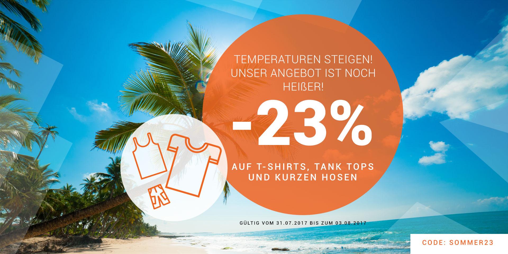 23% bei BOLF auf Tshirt, Tanktops und kurze Hosen