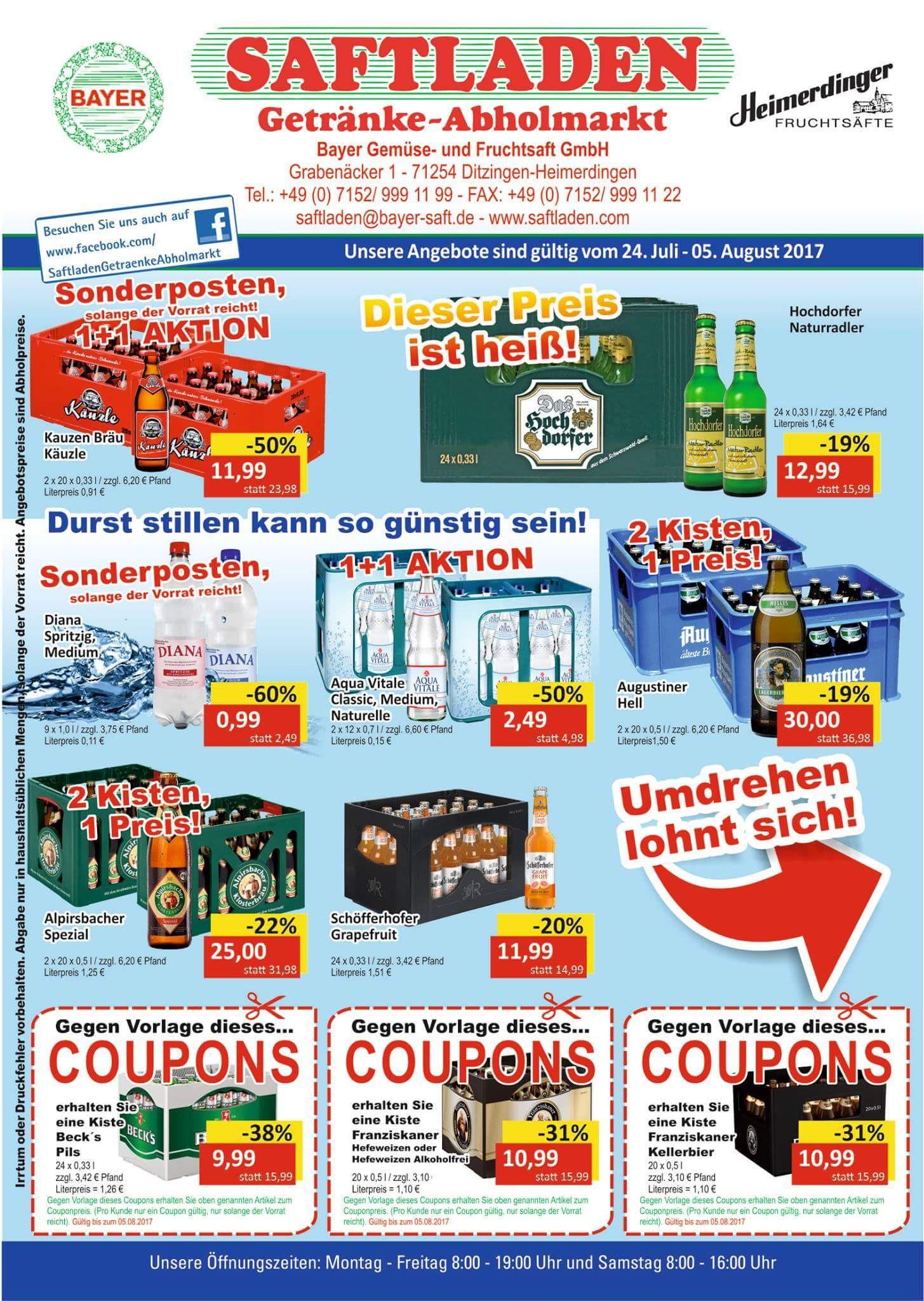 Getränke Angebote bei Saftladen in Heimerdingen