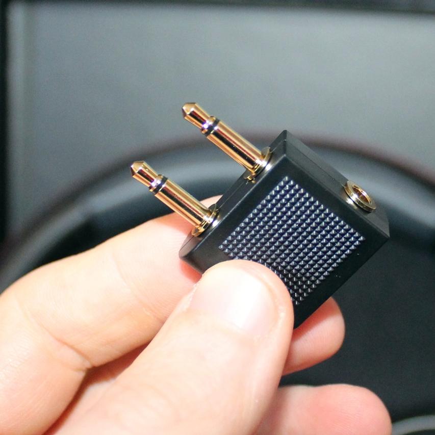 Flugzeug Adapter 3,5mm für Kopfhörer @AliExpress