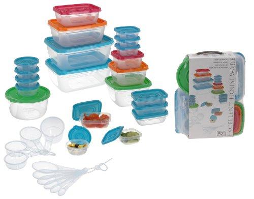Frischhaltedosen/Gefrierdosen 52 tlg. aus Kunststoff. Spülmaschinen sowie Mikrowellengeeignet für 13,99€