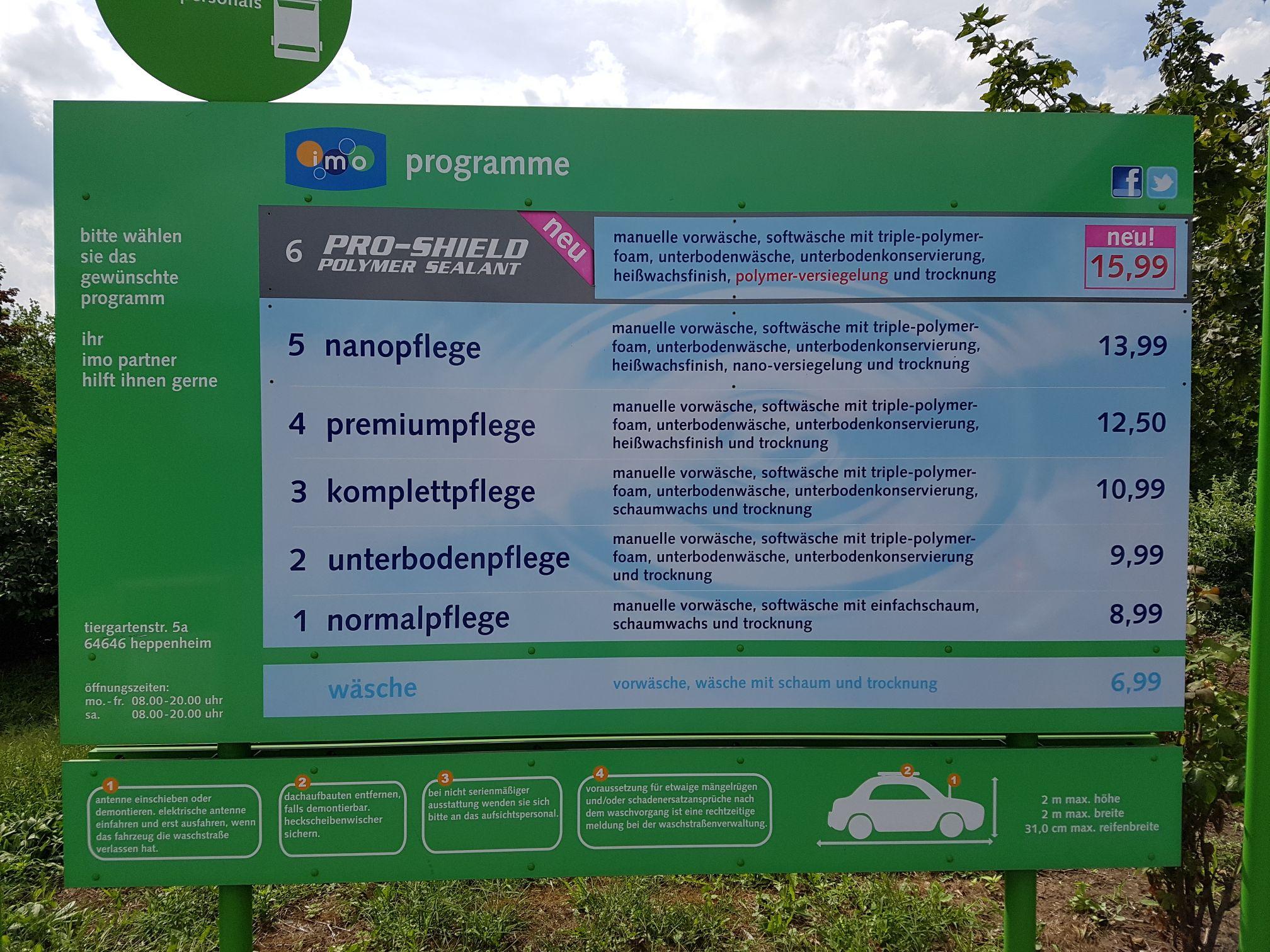 (Lokal) IMO Heppenheim am Rewe Center - Tiergartenstraße