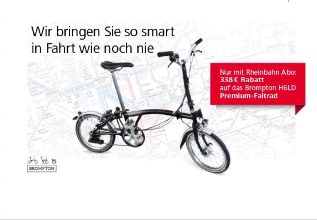 Brompton Faltrad für Rheinbahn Abonnenten (statt 1636€)