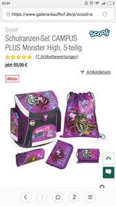 Scooli Schulranzen-Set CAMPUS PLUS Monster High, 5-teilig