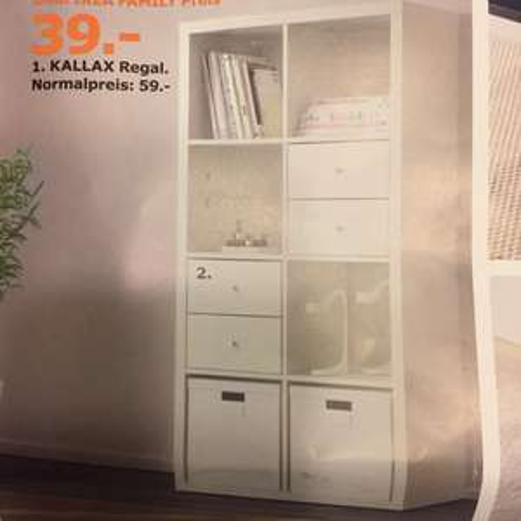 [Ikea Bielefeld] Regal Kallax 2x4 für 39€ statt 59€