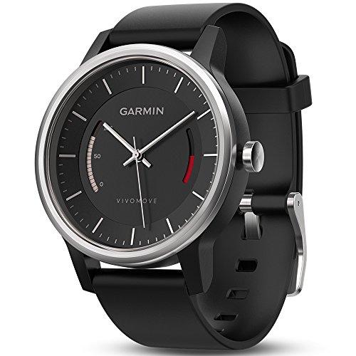 Garmin vívomove Sport Fitness-Tracker im klassischen Uhrendesign schwarz [Amazon.it]