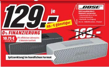 [Lokal Mediamarkt Paderborn] BOSE SoundLink Mini II Bluetooth Lautsprecher in 2 Farben für je 129,-€