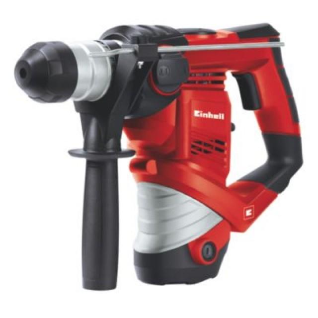 [screwfix] Einhell Bohrhammer TC-RH 900 (900 W, 3 J, Bohrleistung in Beton 26 mm, SDS-Plus-Aufnahme, Metall-Tiefenanschlag, max. Leerlaufschlagzahl 4100 Schläge/min, Koffer)