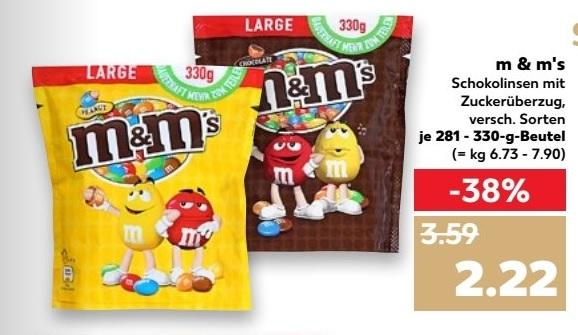 M&M's Peanut verschiedene Sorten 330g Beutel [Kaufland bundesweit ab 10.08]