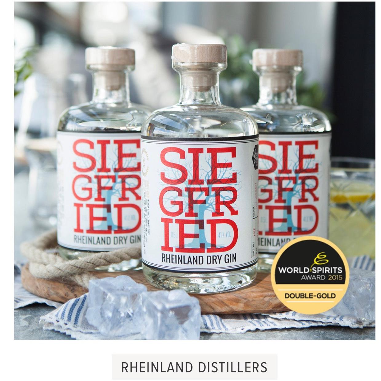 Siegfried Dry Gin: für unschlagbare 21,22€/Flasche ( mit Rabattcode )bei Kauf von 3 Flaschen für 63,66€... mehrmals ausgezeichnet