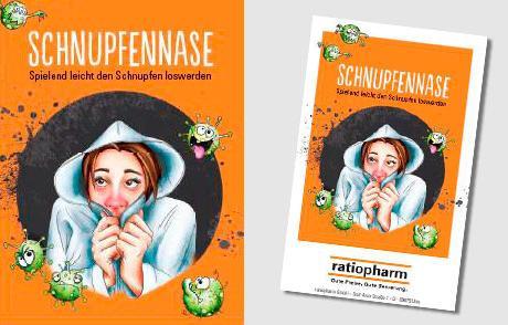 """Kartenspiel """"Schnupfnase"""" von Ratiopharm, CD """"gegen"""" Kopfschmerzen uvm."""